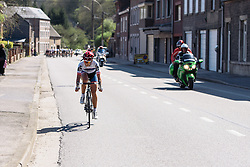 Carmen Small (Cervélo Bigla) attacks - Flèche Wallonne Femmes - a 137km road race from starting and finishing in Huy on April 20, 2016 in Liege, Belgium.