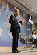 """London, England, Uk, January 21 2019 - The Royal Institute for International Affairs, is a Think Tank commonly known as Chatham House.<br /> At the """"The Great Delusion: Liberal Dreams vs International Realities"""" event with Pr John J. Mearsheimer & Dr Leslie Vinjamuri."""