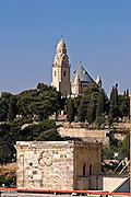 Dormition Abbey Jerusalem Israel as seen from the promenade