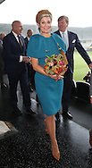 Almelo, 27-10-2016 <br /> <br /> Regional Visit of King Willem-Alexander and Queen M&aacute;xima Almelo and Northeast Twente on October 27, 2016<br /> <br /> King Willem-Alexander and Queen Maxima at Polman Stadium Heracles Almelo.<br /> <br /> King Willem-Alexander and Queen Maxima meet participants of a social project. <br /> <br /> <br /> COPYRIGHT ROYALPORTRAITS EUROPE/ BERNARD RUEBSAMEN