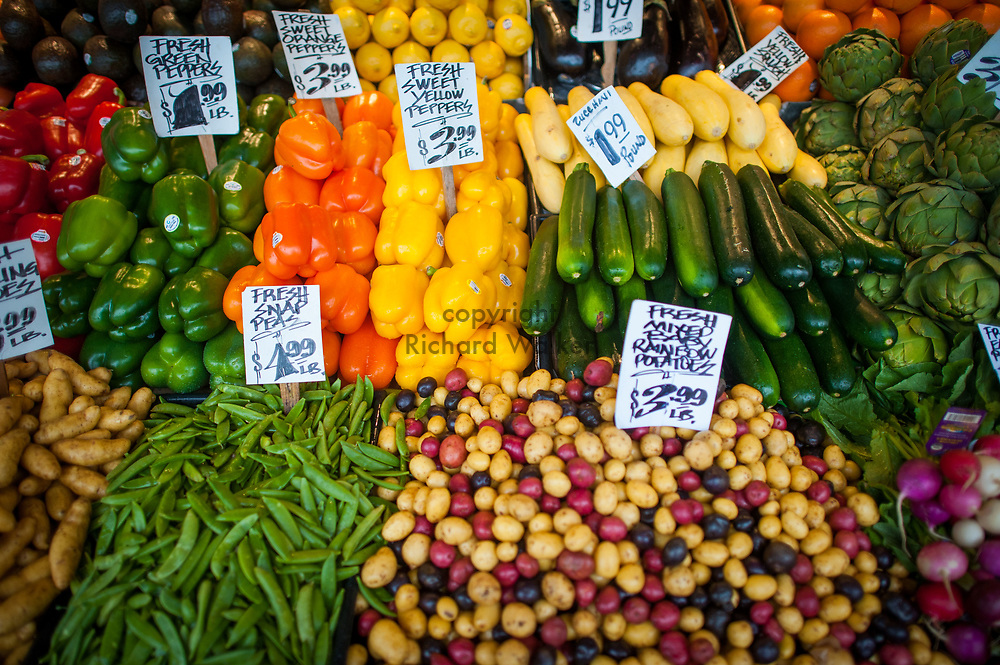 2018 JANUARY 11 - Produce for sale at Pike Place Market, Seattle, WA, USA. By Richard Walker