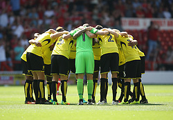 General view of the Burton Albion players before the match - Mandatory by-line: Jack Phillips/JMP - 06/08/2016 - FOOTBALL - The City Ground - Nottingham, England - Nottingham Forest v Burton Albion - EFL Sky Bet Championship