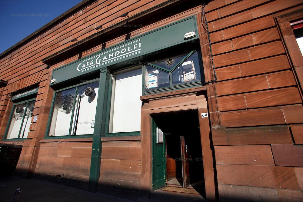 Picture shows : ..Cafe Gandolfi - Albion Street,Merchant City Area, Glasgow. Travel guide feature...Picture Drew Farrell. tel : 07721-735041......