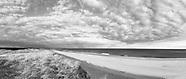 Amagansett Beach Black and White