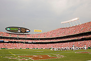 KANSAS CITY, MO - SEPTEMBER 10:  Cincinnati Bengals attempt a field goal during a game against the Cincinnati Bengals on September 10, 2006 at Arrowhead Stadium in Kansas City, Missouri..The Bengals won 23 to 10.  (Photo by Wesley Hitt/Getty Images)***Local Caption*** Arrowhead Stadium