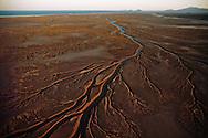 An aerial view of the Colorado River delta in Baja California.