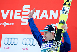 20.03.2015, Planica, Ratece, SLO, FIS Weltcup Ski Sprung, Planica, Finale, Skifliegen, im Bild Siegerehrung, Stefan Kraft (AUT, 3. Platz) // during the mens Skijumping Winner Award Ceremony of the FIS Ski jumping Worldcup Cup finals at the Planica in Ratece, Slovenia on 2015/03/20. EXPA Pictures © 2015, PhotoCredit: EXPA/ JFK