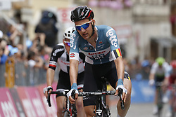 May 16, 2018 - Osimo, ITALY - Belgian Tim Wellens of Lotto Soudal crosses the finish line of stage 11 of the 101st edition of the Giro D'Italia cycling tour, 1565km from Assisi to Osimo, Italy, Wednesday 16 May 2018...BELGA PHOTO YUZURU SUNADA FRANCE OUT (Credit Image: © Yuzuru Sunada/Belga via ZUMA Press)