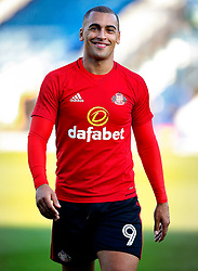 James Vaughan of Sunderland smiles on his return to Gigg Lane - Mandatory by-line: Matt McNulty/JMP - 10/08/2017 - FOOTBALL - Gigg Lane - Bury, England - Bury v Sunderland - Carabao Cup - First Round