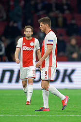 Klaas Jan Huntelaar #9 of Ajax after the Europa League match R32 second leg between Ajax and Getafe at Johan Cruyff Arena on February 27, 2020 in Amsterdam, Netherlands
