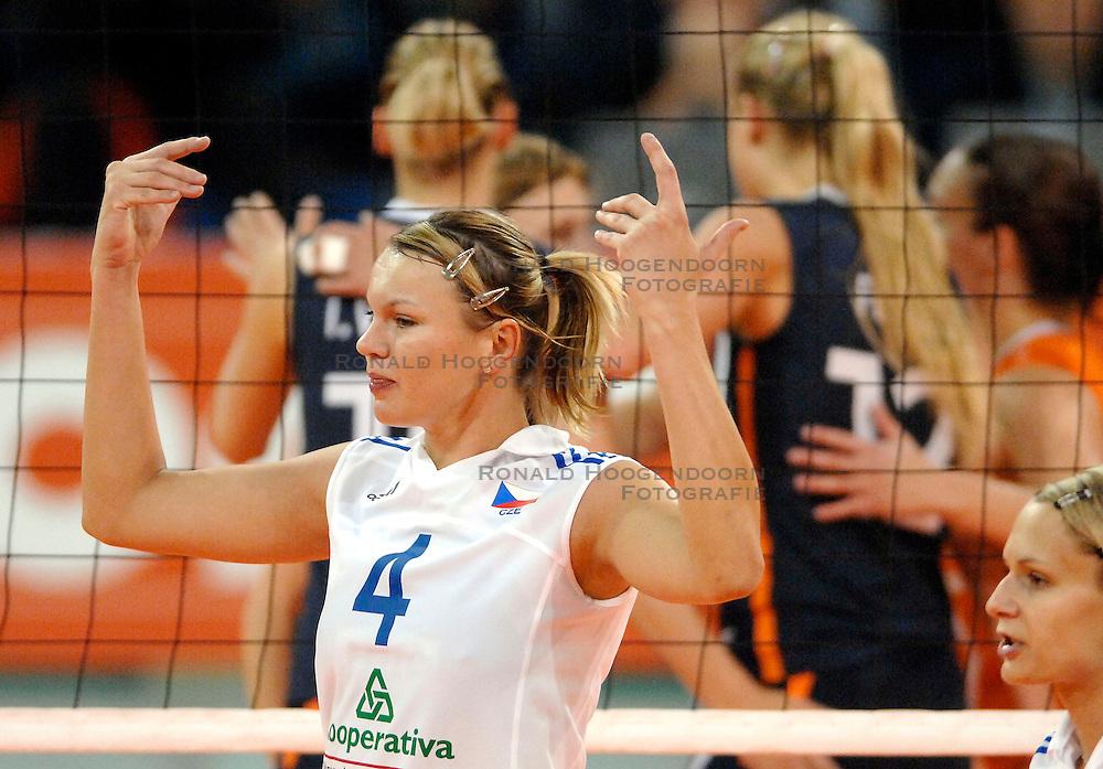 07-11-2007 VOLLEYBAL: PRE OKT: NEDERLAND - TSJECHIE: EINDHOVEN<br /> Nederland verslaat vrij eenvoudig Tsjechie met 3-0 / Milada Spalova<br /> &copy;2007-WWW.FOTOHOOGENDOORN.NL