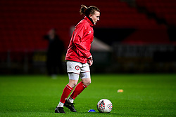Frankie Brown of Bristol City prior to kick off - Mandatory by-line: Ryan Hiscott/JMP - 17/02/2020 - FOOTBALL - Ashton Gate Stadium - Bristol, England - Bristol City Women v Everton Women - Women's FA Cup fifth round