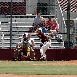 17 April 2010: during a prep baseball match up between the St. Thomas Aquinas Falcons and the Northlake Christian Wolverines at Falcon Field in Hammond, Louisiana.