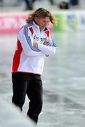 08-01-2012 SCHAATSEN: EC ALLROUND: BUDAPEST<br /> 1500 meter men / Coach Peter Mueller<br /> ©2012-FotoHoogendoorn.nl