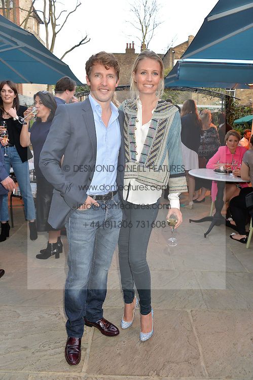 PICTURE SHOWS:-JAMES BLUNT and his wife SOPHIA.<br /> Tuesday 14th April 2015 saw a host of London influencers and VIP faces gather together to celebrate the launch of The Ivy Chelsea Garden. Live entertainment was provided by jazz-trio The Blind Tigers, whilst guests enjoyed Mo&euml;t &amp; Chandon Champagne, alongside a series of delicious canap&eacute;s created by the restaurant&rsquo;s Executive Chef, Sean Burbidge.<br /> The evening showcased The Ivy Chelsea Garden to two hundred VIPs and Chelsea<br /> residents, inviting guests to preview the restaurant and gardens which marry<br /> approachable sophistication and familiar luxury with an underlying feeling of glamour and theatre. The Ivy Chelsea Garden&rsquo;s interiors have been designed by Martin Brudnizki Design Studio, and cleverly combine vintage with luxury, resulting in a space that is both alluring and down-to-earth.