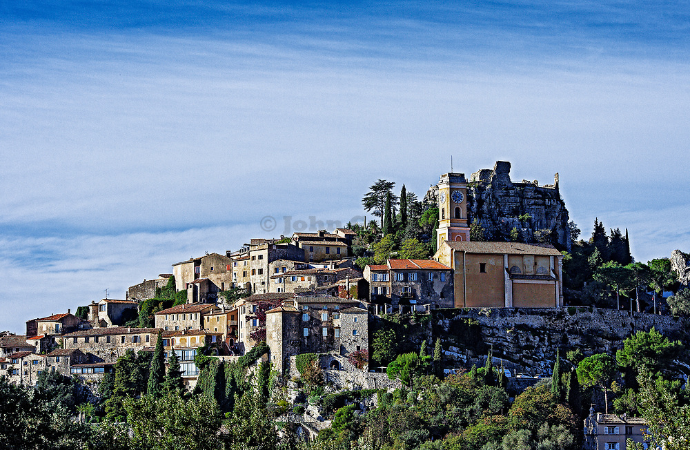 Hilltop town of Eze, Cote d'Azur, France