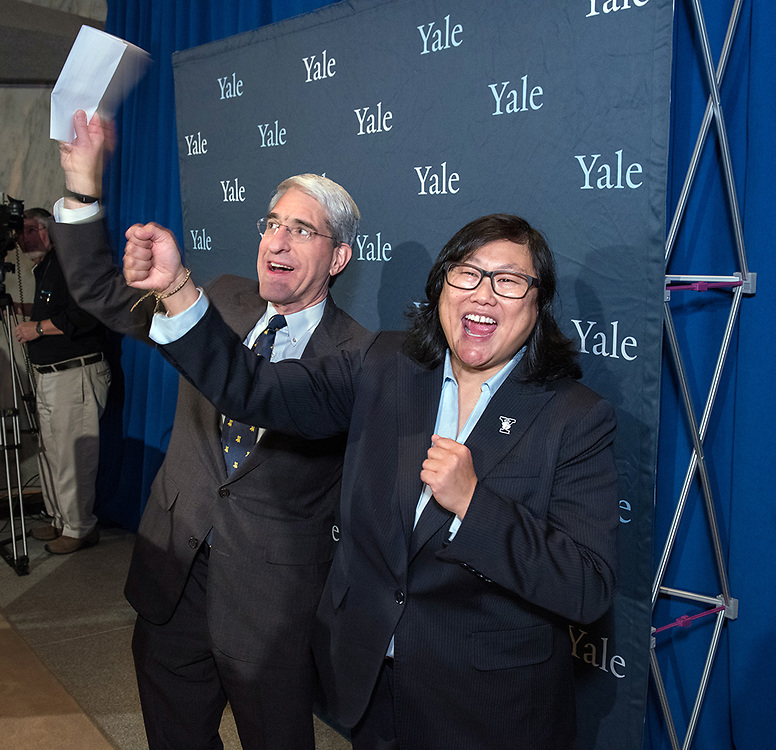 "Photography ©Mara Lavitt<br /> Beinecke Rare Book & Manuscript Library, Yale University, New Haven, CT<br /> February 1, 2018<br /> <br /> Victoria M. ""Vicky"" Chun was introduced to the Yale community as the new Yale University Athletic Director."