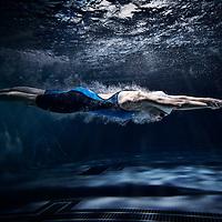 Bree Crookshanks of the 2019 Regina Cougars Swimming team.
