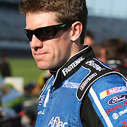 Sprint Cup Series driver Carl Edwards (99) at Daytona International Speedway on February 18, 2011 in Daytona Beach, Florida. (AP Photo/Alex Menendez)