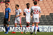 GOAL Gboly Ariyibi celebrates 1-1  during the EFL Sky Bet League 1 match between Milton Keynes Dons and Rochdale at stadium:mk, Milton Keynes, England on 16 September 2017. Photo by Daniel Youngs.