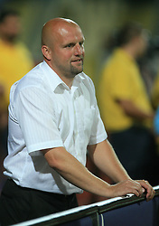 Head coach of Domzale Robert Pevnik during penalty shots at Slovenian Supercup between NK Domzale and NK Interblock, on July 9, 2008, in Domzale. Interblock won the mach and Supercup by 7 : 6 after penalty shots. (Photo by Vid Ponikvar / Sportal Images)