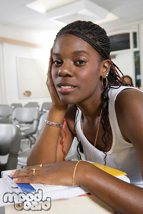 Female University student in classroom
