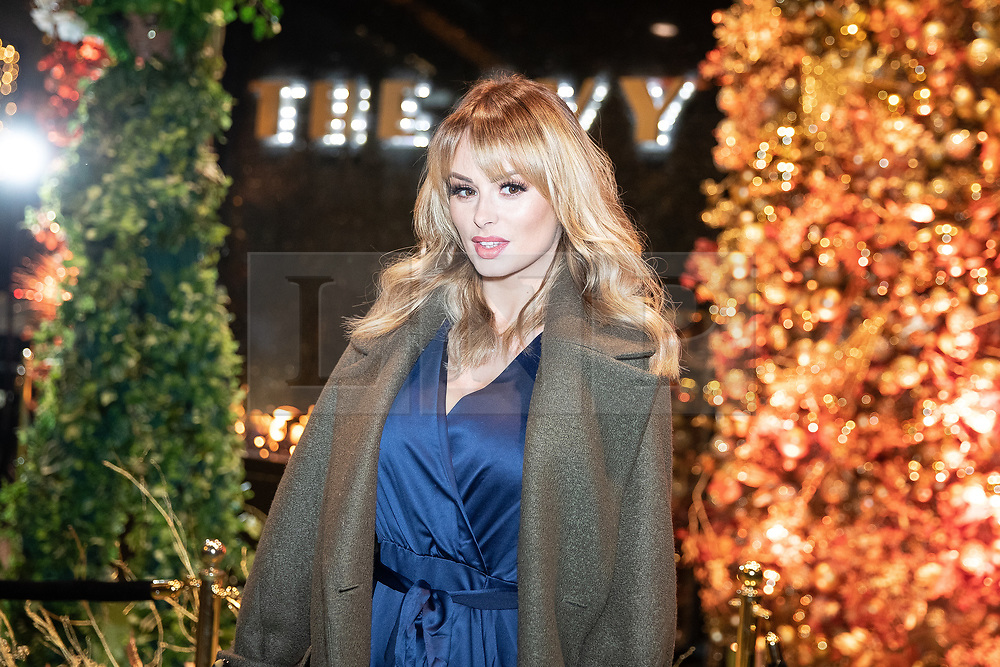 © Licensed to London News Pictures . 23/11/2018. Manchester , UK . Model Rhian Sugden arrives at an opening event of The Ivy restaurant and bar venue in Spinningfields in Manchester City Centre . Photo credit : Joel Goodman/LNP