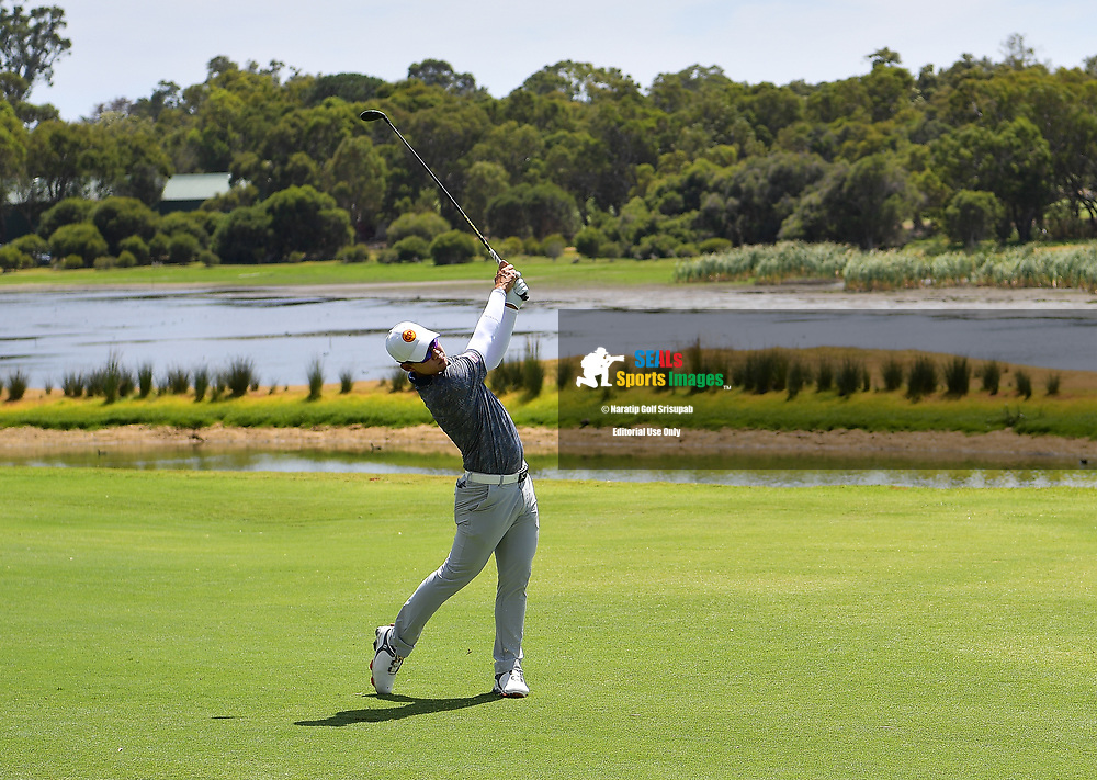 PERTH, AUSTRALIA - FEBRUARY 16: Jazz Janewattananond (THA) on the 3rd fairway during the 3rd round of the ISPS Handa World Super 6, Lake Karrinyup Country Club, Perth, Western Australia, on February 16, 2019. <br /> .<br /> .<br /> .<br /> (Photo by: Naratip Golf Srisupab/SEALs Sports Images)<br /> .<br /> Any image use must include a mandatory credit line adjacent to the content which should read: Naratip Golf Srisupab/SEALs Sports Images