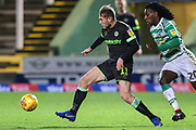 Forest Green Rovers George Williams(11) on the ball during the EFL Sky Bet League 2 match between Yeovil Town and Forest Green Rovers at Huish Park, Yeovil, England on 8 December 2018.