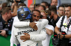 September 2, 2018 - Monza, Italy - Motorsports: FIA Formula One World Championship 2018, Grand Prix of Italy, .#77 Valtteri Bottas (FIN, Mercedes AMG Petronas Motorsport), #44 Lewis Hamilton (GBR, Mercedes AMG Petronas Motorsport) (Credit Image: © Hoch Zwei via ZUMA Wire)