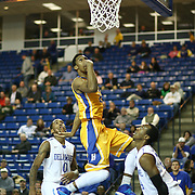 Hofstra Guard Jamall Robinson (20) drives to the basket in the second half of a NCAA regular season Colonial Athletic Association conference game between Delaware and Hofstra Wednesday, JAN 8, 2014 at The Bob Carpenter Sports Convocation Center in Newark Delaware.