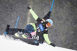 Weronika Biela (POL) competes during Qualification Run of Women's Parallel Giant Slalom at FIS Snowboard World Cup Rogla 2016, on January 23, 2016 in Course Jasa, Rogla, Slovenia. Photo by Ziga Zupan / Sportida