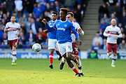Jamal Lowe (18) of Portsmouth during the EFL Sky Bet League 1 match between Portsmouth and Bradford City at Fratton Park, Portsmouth, England on 28 October 2017. Photo by Graham Hunt.