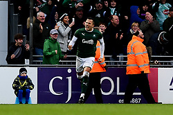 Antoni Sarcevic of Plymouth Argyle celebrates scoring his sides first goal of the game - Mandatory by-line: Ryan Hiscott/JMP - 01/12/2019 - FOOTBALL - Memorial Stadium - Bristol, England - Bristol Rovers v Plymouth Argyle - Emirates FA Cup second round