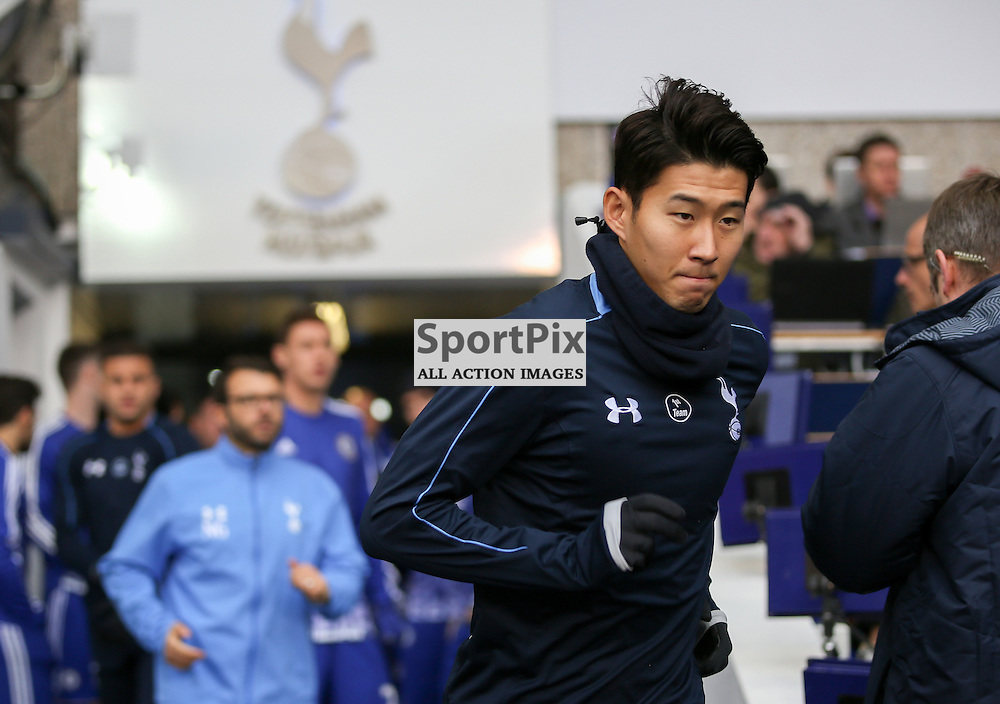 Heung Min Son Tottenham Hotspur vs Chelsea on Sunday the 29th November 2015.