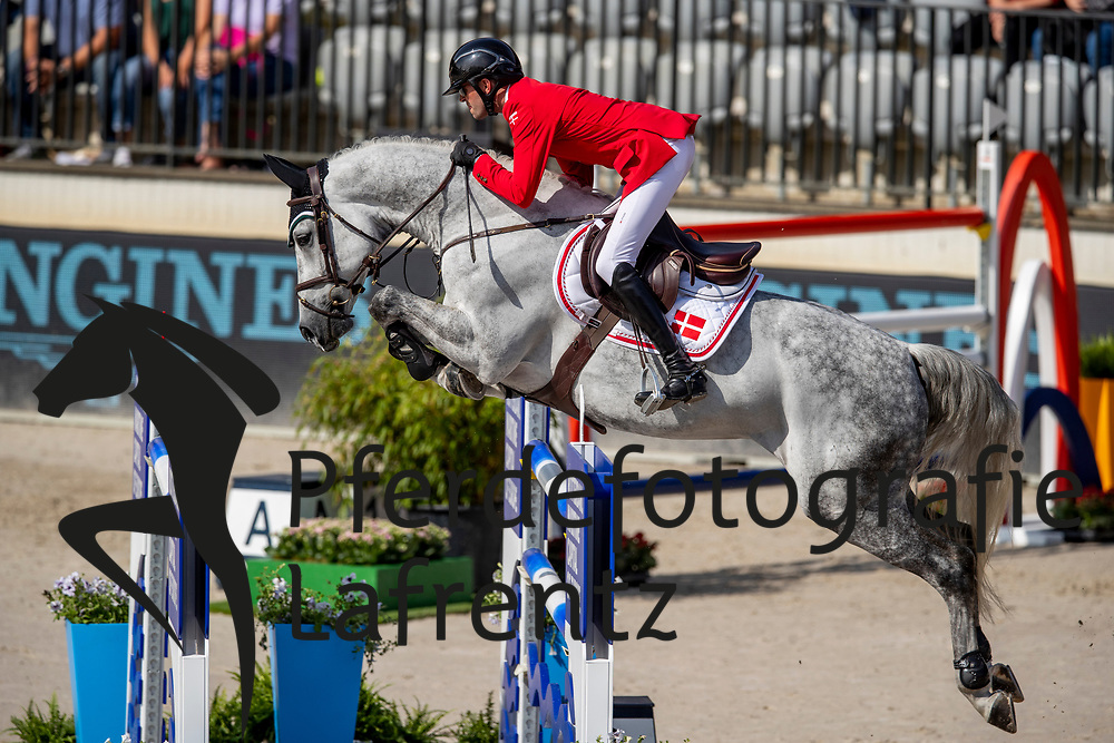 HEIN RUUS Nikolaj (DEN), CADILLAC<br /> Rotterdam - Europameisterschaft Dressur, Springen und Para-Dressur 2019<br /> Longines FEI Jumping European Championship - 1st part - speed competition against the clock<br /> 1. Runde Zeitspringen<br /> 21. August 2019<br /> © www.sportfotos-lafrentz.de/Stefan Lafrentz