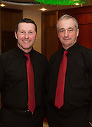 Noel McIntyre and Michael Hegarty from Moycullen Enchants who performed  at Choir Factor in the Radisson Blu.<br /> Choir Factor is a fundraiser for The Sccul Sanctuary, Therapeutic Support Centre in Kilcornan Clarenbrdge.<br /> <br />  Photo:Andrew Downes, xposure.