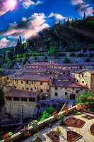 """Sunlight shines on the Convent of the Cells by St. Francis in Cortona""…<br />