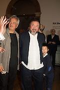 ANISH KAPOOR; AI WEIWEI; Lao Ai, Ai Weiwei, Royal Academy, Piccadilly. London.  15 September 2015.