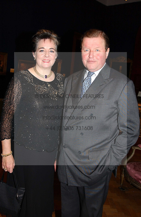 MR EDWARD & LADY JANE DAWNAY at a reception hosted by Brian Ivory Chairman of the Trustees of The National Galleries of Scotland to commemorate Sir Timothy Clifford's 21 years of Director of the National Gallery of Scotland and his forthcoming retirement in January 2006, held at Christie's, King Street, London W1 on 6th December 2005.<br /><br />NON EXCLUSIVE - WORLD RIGHTS