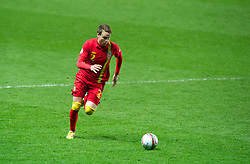 SWANSEA, WALES - Tuesday, March 26, 2013: Wales' Chris Gunter in action against Croatia during the 2014 FIFA World Cup Brazil Qualifying Group A match at the Liberty Stadium. (Pic by Tom Hevezi/Propaganda)