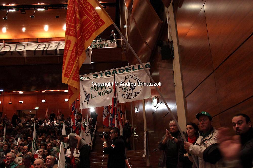 Torino 15 Dicembre 2013. Lingotto Fiere Congresso Federale Lega Nord Padania