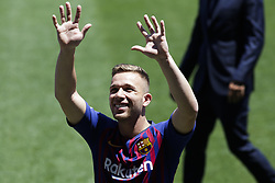 July 12, 2018 - Barcelona, Catalonia, Spain - July 12, 2018 - Camp Nou, Barcelona, Spain -Presentation of Arthur Melo as new player of the FC Barcelona, in Barcelona. (Credit Image: © Marc Dominguez via ZUMA Wire)