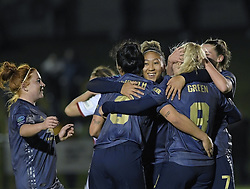 February 20, 2019 - Sheffield, United Kingdom - Manchester United celebrate a third goal during the  FA Women's Championship football match between Sheffield United Women and Manchester United Women at the Olympic Legacy Stadium, on February 20th Sheffield, England. (Credit Image: © Action Foto Sport/NurPhoto via ZUMA Press)