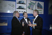 Ian Ritchie, Edward Fox and PROF OF ANATOMY, Dr. Jerald Libby.  Royal Academy Annual Dinner. Piccadilly. London. 5 June 2007.  -DO NOT ARCHIVE-© Copyright Photograph by Dafydd Jones. 248 Clapham Rd. London SW9 0PZ. Tel 0207 820 0771. www.dafjones.com.