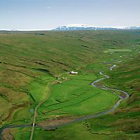 Efri-Núpur séð til suðurs, Húnaþing vestra áður Fremri-Torfustaðahreppur / Efri-Nupur viewing south, Hunathing vestra former Fremri-Torfustadahreppur.