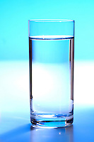 Studio shot of glass with water