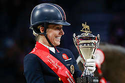 Podium Final Lyon 2014<br /> 1. Dujardin Charlotte - Valegro<br /> Reem Acra FEI World Cup™ Dressage Final 2013/2014<br /> Lyon 2014<br /> © Dirk Caremans