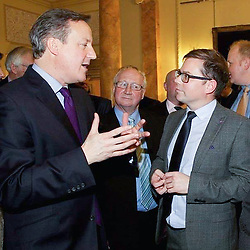 © Licensed to London News Pictures . Undated collect photo of Cllr MATTHEW SEPHTON (r) talking to former Prime Minister DAVID CAMERON (l) . Sephton (41) , a Conservative Party councillor in Altrincham and teacher at Westmorland Primary School in Stockport , was arrested by National Crime Agency officers on December 1st 2016 . The school and the Conservative Party have both suspended him . Photo credit: LNP