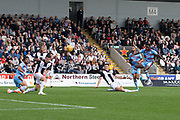 4th August 2018, Simple Digital Arena, Paisley, Scotland; Ladbrokes Premiership football, St Mirren versus Dundee; Jean Alassane Mendy of Dundee fires a shot over the bar